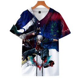 Hot clotHing for black men online shopping - Hot Game Kpop DMC Fashion jacket new brand cool print long sleeve Cool baseball jacket for men Clothes