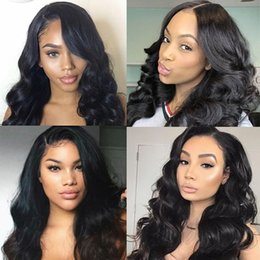 closure density Australia - 4x4 Closure Wig Malaysian Brazilian Idian Hair Body Wave Wig Natural Color Remy 150% Density Lace Front Human Hair Wigs For Black Women