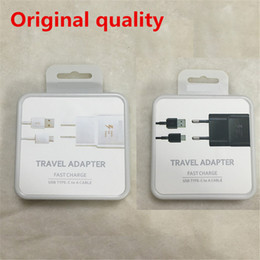 wall chargers retail package NZ - Original OEM Black White Fast Travel Adapter Wall Charger + Type-C Cable With Retail Packaging For Samsung Galaxy S8 S8 Plus Moto Z C9 Pro