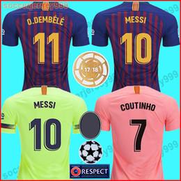71555d6203 2018 2019 FC barcelona soccer jersey football shirt Camisola de futebol  Messi COUTINHO homens Adulto INIESTA O.DEMBELE 18 19 Camiseta de futebol  camisa de ...