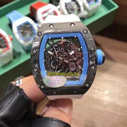 $enCountryForm.capitalKeyWord Australia - V2 version RM 055 NTPT Best All Carbon Fiber Case Skeleton Blue Dial Japan NH Automatic RM055 Mens Watch Sapphire Rubber-Strap Sport Watches