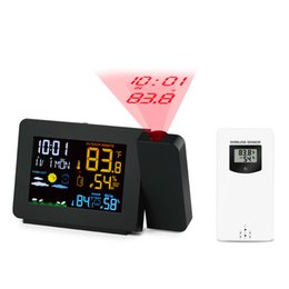 radio waves 2020 - Weather Forecast Wireless Alarm Clock Multi-function with Cross-border Radio Wave Function Alarm Clock Home Supplies che