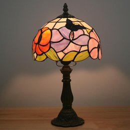 $enCountryForm.capitalKeyWord Australia - 8 Inch Stained Glass Flowers Butterfly Table Lamp Bedside Decor Small Night Lamp Living Room Kids Room Creative Bar Table Lights