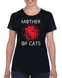 Tee Shirt Cat Australia - Mother of cats t shirt Game of thrones Winter Coming Brace Yourself Ladies tee