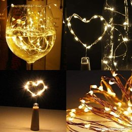 $enCountryForm.capitalKeyWord NZ - Wine Bottles String Lights, Micro Cork Copper Wire Starry Fairy Lights, Battery Operated Lights for Christmas Decoration