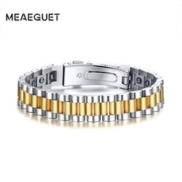 power bracelet watches Australia - Watch Brands Health Care Hematite Energy Power Male Casual Jewelry Hombre Stainless Steel Men Bracelet