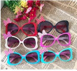 Kids Summer Sunglasses UK - Fashion Summer Cartoon Cute Heart Bow Colourful Kids Girls Sunglasses Children Sun Glasses UV400 Oculos De Sol Gafas