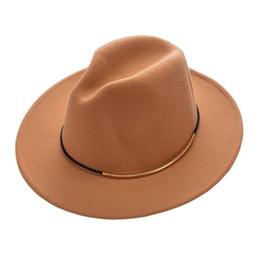 a626194e890 Fashion Wool Felt Women Fedora Hat Winter Wide Brim Jazz Cap Elegant Ladies  Vintage Panama Hats Autumn Solid Color Trilby Caps