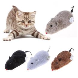 $enCountryForm.capitalKeyWord Australia - Funny Clockwork Mouse Toy Spring Power Plush Rat Mechanical Motion Interactive Cat Dog Playing Toy Pet Supplies