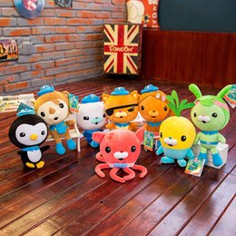 Wholesale comics video games online – design Original Charactes The Octonauts Plush Doll Inch Cartoon Barnacles Kwazii Peso Shellington Dashi Professor Inkling Tweak Stuffed Doll