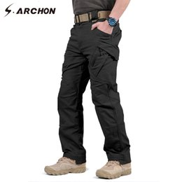 Wholesale black swat pants for sale – dress S ARCHON IX9 City Military Tactical Cargo Pants Men SWAT Combat Army Trousers Male Casual Many Pockets Stretch Cotton Pants SH190917