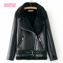 $enCountryForm.capitalKeyWord Australia - Warm Women's Winter Motorcycle Velvet Jacket Female Short Lapels Fur Thick Korean Version Plus Velvet Jacket 2019 Bomber Jacket Y190810