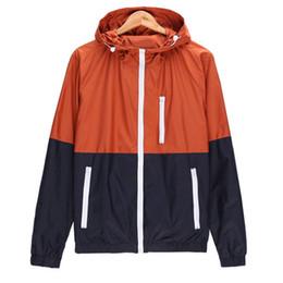 $enCountryForm.capitalKeyWord UK - Wholesale new summer sun protection clothing male famous designer jacket male hooded long sleeve color matching coat street fashion couple s