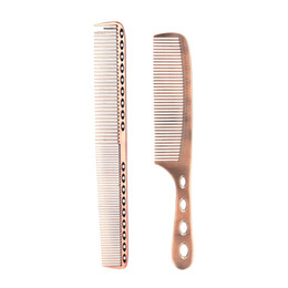 $enCountryForm.capitalKeyWord UK - 2Pcs Salon Hair Comb with Scale Professional Barber Hairdressing Steel Comb Metal Hair W5188G
