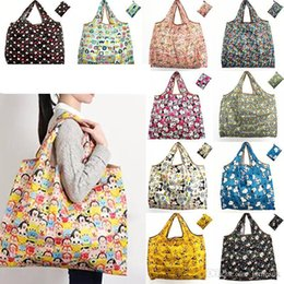 a30f378f06 New cute cartoon multicolor waterproof nylon folding shopping bag reusable  storage green shopping bag tote bag large capacity C047