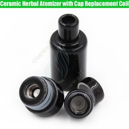 $enCountryForm.capitalKeyWord Australia - Full Ceramic Herbal Atomizer Replacement Coils Cap The Kiln RA Wax Donut Wickless Dry herb Vaporizer Tank Hookah Cannon Vape Pen Vapor e cig