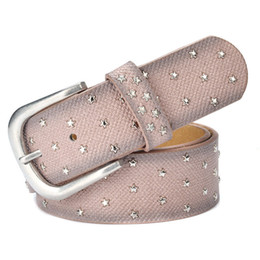 Fashion Hip Hop Girls NZ - Fashion Stars Adorn Belts Lady Luxury Waistbands Business Belt Woman Classic Belts Girls Hip Hop Waistband High Quality Leather Waist Straps