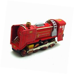 Old Tin Toys Australia - Adult Collection Retro Wind up toy Metal Tin The Red locomotive Mechanical toy Clockwork toy figures model kids christmas gift