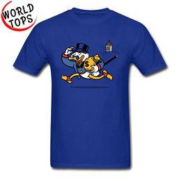 Discount airsoft clothing - 2019 men s designer clothing tshirt Slim Fit Cartoon Printed Tshirts Fowl Business Graphic Cotton Classic Tshirts Summer