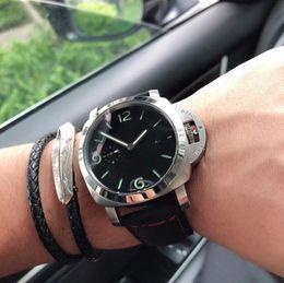 $enCountryForm.capitalKeyWord Australia - Latest Royal Style Men's Navy 1950 Automatic Mechanical Watch 44MM Sapphire Glass Black Case Transparent Back Fashion 00312 Men's Cool Watch