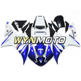 $enCountryForm.capitalKeyWord Australia - Motorcycle Fairings White Blue For Yamaha YZF1000 R1 2002 2003 Complete Bike Body Frames R1 02 03 Aftermarket Motorcycle ABS Body Work Cover