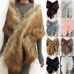 $enCountryForm.capitalKeyWord Australia - Fashion-Faux Fur Coat Women Ponchos And Capes Bridal Shawl Cape Fluffy Vest Coats Women Abrigo Mujer Fourrure New Winter Coats