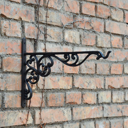 $enCountryForm.capitalKeyWord Australia - 4 Pieces Long Wall Hook Wrought Iron Bracket Home Garden Decorations Used for Hanging Plants Lantern Birdcage Flower Hangers Holder Vintage