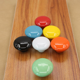 Kids Drawers Handles NZ - Ceramic Dresser Knob Children Drawer Door Handle Pulls Kids Cabinet Cupboard Knobs colorfull simple design free shipping