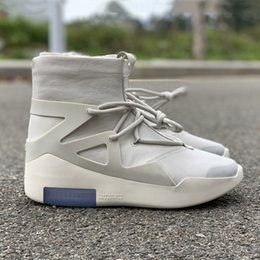 size 12 designer shoes 2019 - HOT Sale Air Fear of God 1 Men Shoes FOG Boots Light Bone Sail Basketball Shoes Men Sports Designer Zoom Sneakers Size 5