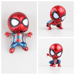 Spider Man Action Figures For Australia - Funko pop Electroplate Spider-Man Shaking Head Amine Vinyl Action Figure Collectible Model Toys for kids gift toy