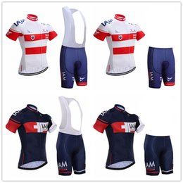 mens lycra cycling shorts Australia - New Summer cycling jersey sets mens IAM team cycling clothing short sleeve mtb jersey set kits cycling (bib) shorts pants 9d pad