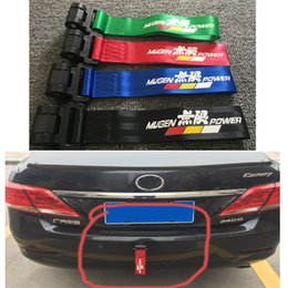 mugen stickers Australia - Universal MUGEN Power Racing Tow Straps Light Weight Sticker Style Tow Ropes Glued Insall JQ-TH005