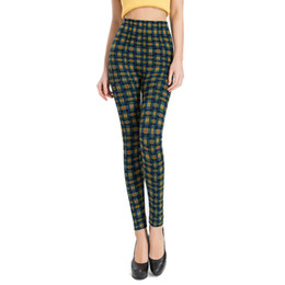 02fc8b33ab6 Fashion Sexy Slim Plaid Leggings for Women 2019 Big Size Office Lady High  Waist Work Out Legging Fitness Legins Red Green Orange