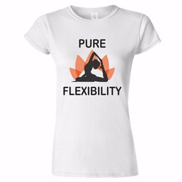 Healthy Art Australia - PURE FLEXIBILITY YOGA DESIGN WOMENS T SHIRT LOTUS FLEXIBLE ART HEALTH HEALTHY Men Women Unisex Fashion tshirt Free Shipping