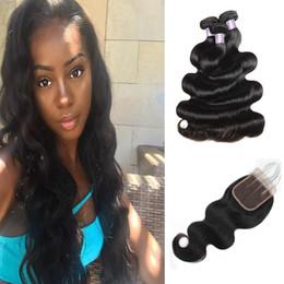 $enCountryForm.capitalKeyWord Australia - Malaysian Straight Brazilian Human Hair Bundles With Closure Water Wave Peruvian Hair Deep Loose Indian Virgin Hair Extensions Body Wave