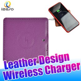 SamSung note SenSor online shopping - Designer Wireless Charger Pad Support Sensor Protable Ultra thin Leather Charging for Samsung Note S10E iPhone X with Retail Packaging