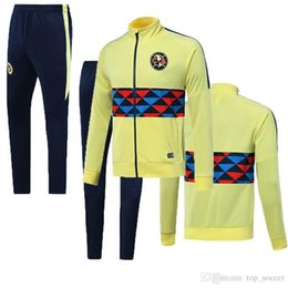 men football tracksuit Australia - top newst 2019 American G.RODRIGUEZ yellow jacket training suit 19 20 I.RENATO CASTILLO CORDOVA football jackets tracksuit set
