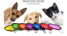 $enCountryForm.capitalKeyWord NZ - 100PCS Travel Folding Pet Dog and Cat Feeding Bowl Water Plate Feeder Silicone Folding 9 Colors Selection