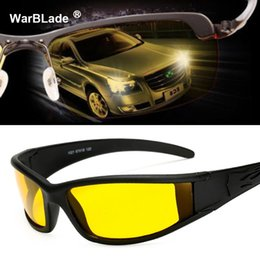 night driving sunglasses wholesale UK - Men Women Sunglasses Goggles Car Driving Glasses Eyewear UV Protection Unisex HD Yellow Lenses Sunglasses Night Vision WarBLade