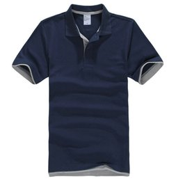 $enCountryForm.capitalKeyWord Australia - Mens Polo Shirts Men Desiger Polos Men Cotton Short Sleeve Shirt Clothes Jerseys Golf Tennis Polos Big Size XXL Solid
