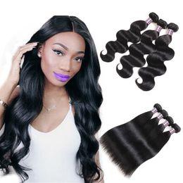 kinky curly human hair 2019 - Brazilian Hair Weft 3 4 5pcs Kinky Straight Body Loose Deep Water Wave Curly Peruvian Human Hair Bundles Indian Malaysia