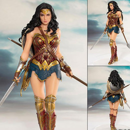 $enCountryForm.capitalKeyWord Australia - DC Comics Wonder Woman figure toys doll 19cm DC justice League ARTFX Wonder Woman Statue Collection Model Action Figure Toys