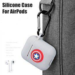 Wholesale Cartoon Silicone Case Shockproof Multiple Choices Cute Animal Soft Case Bluetooh Earphone Protective Cover For Apple AirPods With Buckle