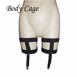 08d5afb4738 Body Cage 1pc Womens Leg Garters Sock Sexy Black Fetish Strap Bondage Harness  Thigh Stocking Suspender Belt harajuku goth
