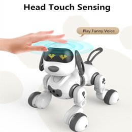 remote control dance UK - Intelligent remote control robot dog singing and dancing puzzle early educational toy USB recharge speaking playing with child
