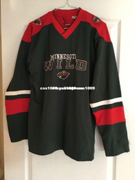 Black Wild Jersey Australia - Cheap custom Minnesota Wild hockey jersey Stitched Mens Retro Jerseys