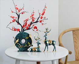 $enCountryForm.capitalKeyWord NZ - American style decoration about flower vase--(plum blossom and magpie and elk)