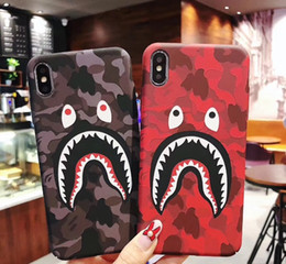 shark phone NZ - Hot Top Shark Pattern Shockproof Soft Back Cover Silicone Cell Phone Case Protective Covers For iPhone X XR XS MAX 6 6S 7 8 PLUS