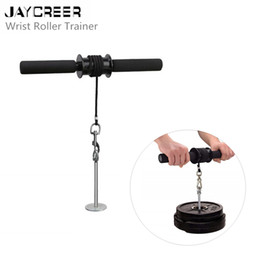 Wholesale JayCreer Wrist Roller Exerciser Trainer Forearm Strength Exerciser It can help to improve your performance in any activity quick