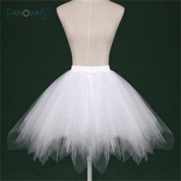 $enCountryForm.capitalKeyWord NZ - 2019 Cheap White Black Red Short Bridal Petticoat Womens Skirt Tutu Skirt Tulle Many Colors Party Dress Wedding Accessories